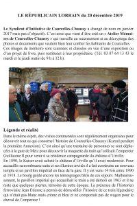 Article RL sur la maquette du train de Guillaume II - syndicat des initiatives de Courcelles-Chaussy